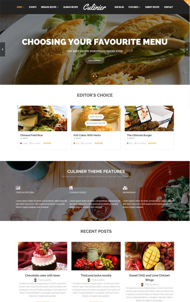 Culinier-Food-Recipe-Wordpress-Theme