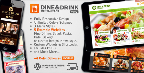 Dine-Drink-Restaurant Responsive WP Theme