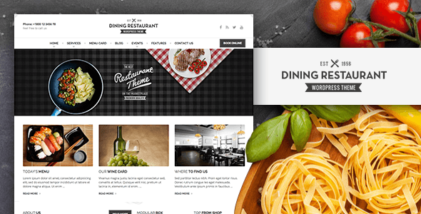 Dining Restaurant - WordPress Theme For Chefs