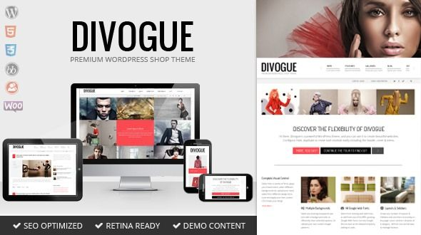 Divogue – Multi-purpose Responsive Flexible Theme