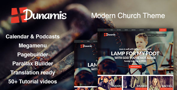Dunamis - Modern Church theme