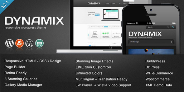 DynamiX - Business-Corporate WordPress Theme