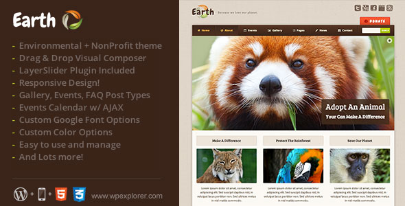 Earth-Eco-Environmental-NonProfit-WordPress-Theme