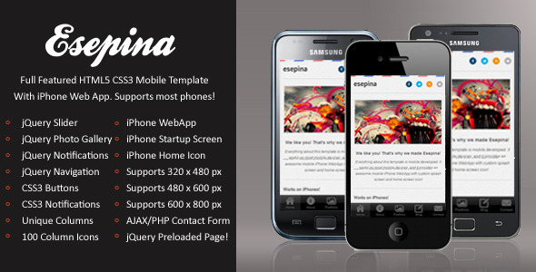 Esepina Mobile-HTML5-CSS3 And iWebApp