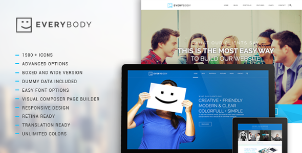 Everybody - Creative Multi-Purpose WordPress Theme