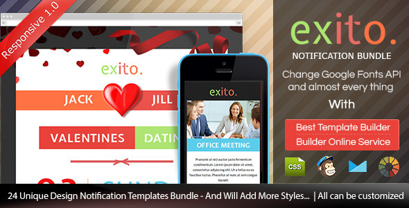 Exito - Notification Bundle Email With Builder