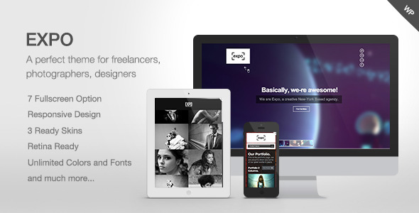 Expo-Fullscreen Photography-Portfolio Theme