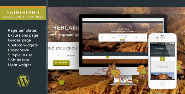 Fatherland-Local Tourism Travel Agency Excursions Theme
