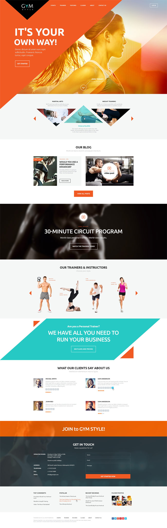 25 best sport fitness wordpress themes 2015 for What is the best poster website