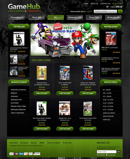 GameHub-Ecommerce-Templates