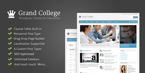 Grand College-Wordpress Theme For Education