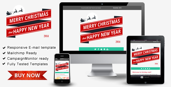 happy new year responsive email templates