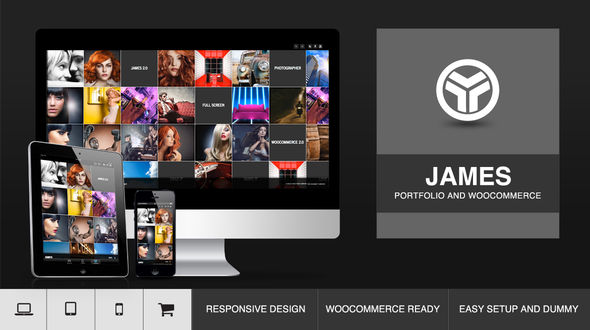 James–Responsive Full Screen Portfolio Woocommerce Theme
