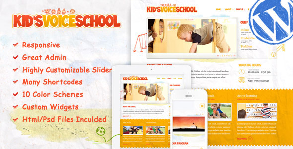 Kids Voice School-Responsive WordPress Theme