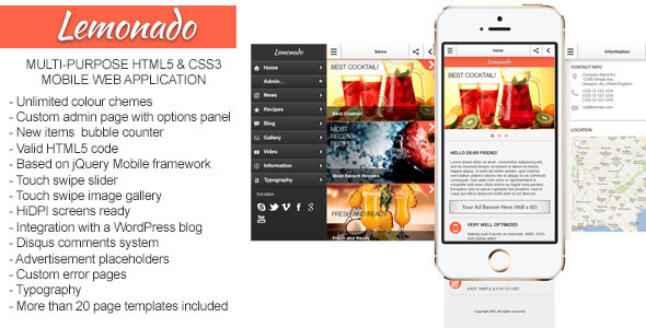 Lemonado-Multi-purpose Mobile Web Application