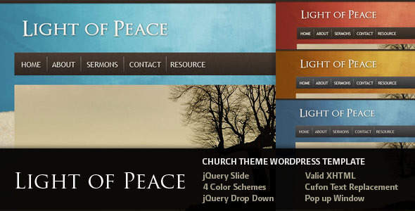 Light of Peace - WordPress Template