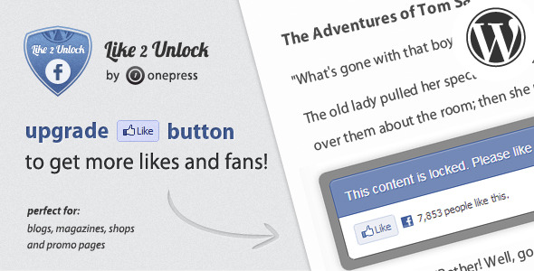 Like 2 Unlock for WordPress