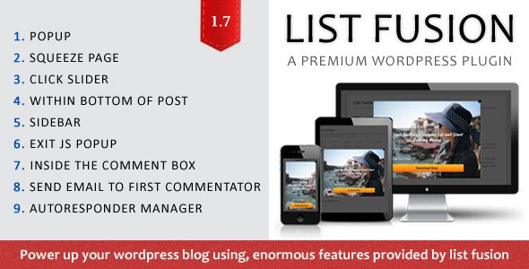 List Fusion - Responsive Multi-Purpose WordPress Plugin