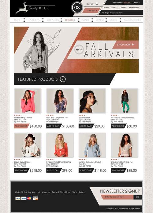 Lovely-Deer-Ecommerce-Templates