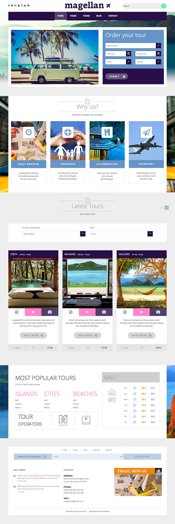 Magellan Travel WordPress Theme
