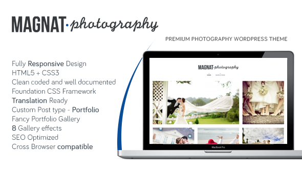 Magnat Photography WordPress Theme