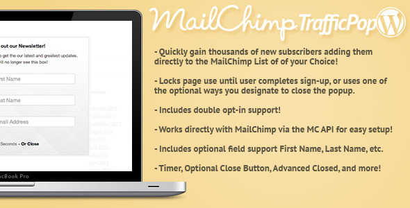 Mail Chimp Traffic Pop