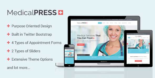 MedicalPress - Health and Medical WordPress Theme