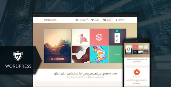 Metro Vibes - Showcase WordPress Theme