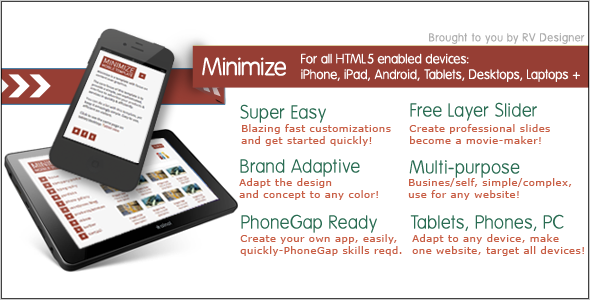 Minimize-Tablet-Mobile Responsive Template