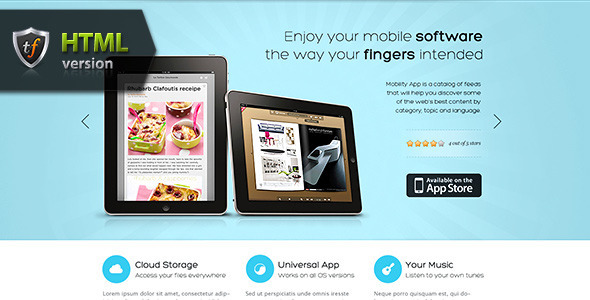 MobilityApp - iPad iPhone or Android app theme