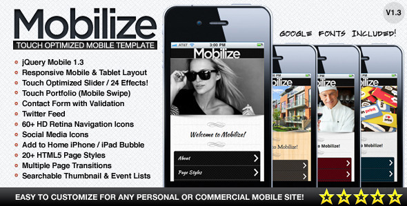 Mobilize-Touch Optimized Mobile Template