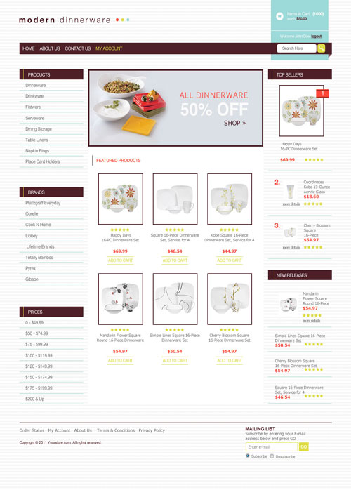 Modern-Dinnerware-Ecommerce-Templates