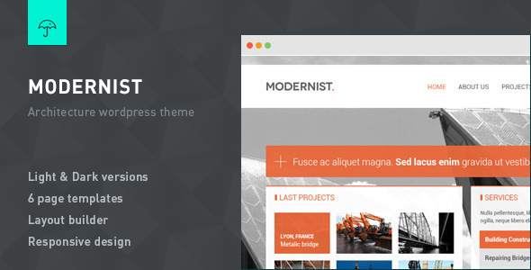 Modernist-Architecture-Engineer WordPress Theme
