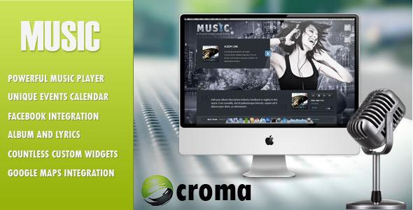 Music-Musicians theme-Facebook app
