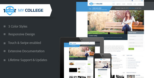 My College-Premium Education WordPress Theme