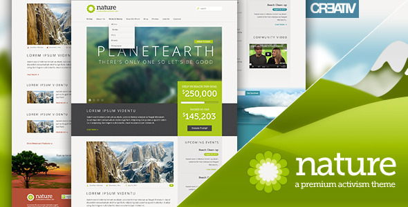 Nature Premium Responsive WordPress Theme