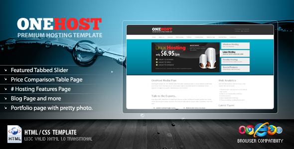 OneHost Preimum Hosting-Portfolio Template
