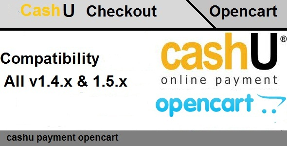 Opencart CashU Payment Extensions