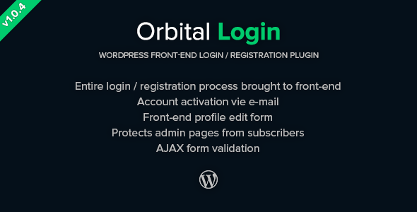 Orbital Login - Login-Register WordPress Plugin