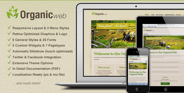 Organic Web-Environmental WordPress Theme
