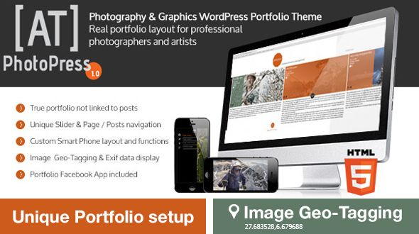 PhotoPress-Photography WordPress Portfolio Theme