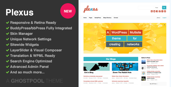 Plexus-Network WordPress & BuddyPress Theme