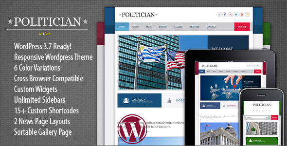 Politician-Responsive-WordPress-Theme