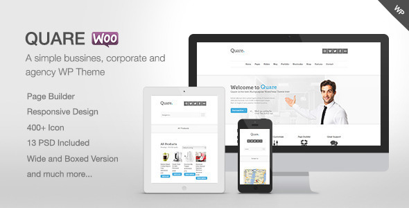 Quare - Responsive Multi-Purpose Theme