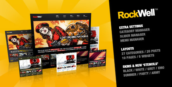 RockWell-Portfolio-Blog WordPress Theme