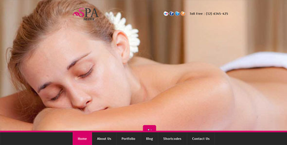 SPA SALON - Creative WordPress CMS Theme