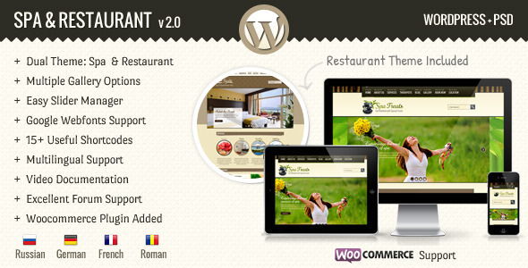 SPA Treats - Spa-Restaurant WooCommerce Theme
