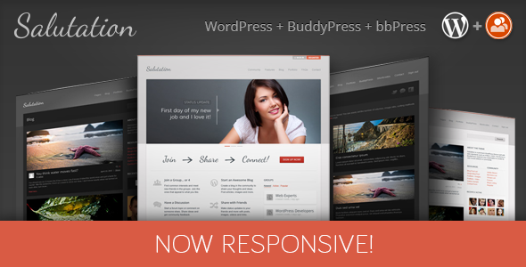 Salutation Responsive WordPress + BuddyPress Theme