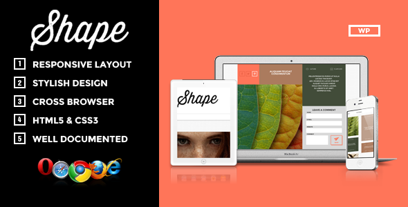 Shape-Professional WordPress Photography Theme