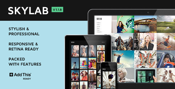 Skylab Portfolio-Photography WordPress Theme
